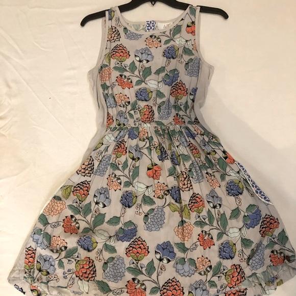 Matilda Jane Teen Gray Floral Dress With Pockets
